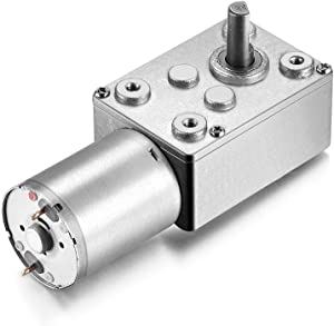 uxcell DC 12V 65RPM Worm Gear Motor 6mm Shaft High Torque Turbine Reducer