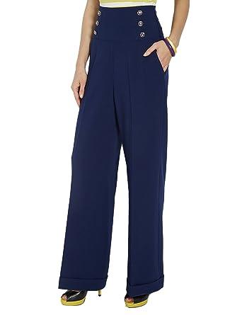 Bien-aimé Morgan 151-POLO.N - Pantalon - Large - Femme - Bleu (Marine) - FR  AC09