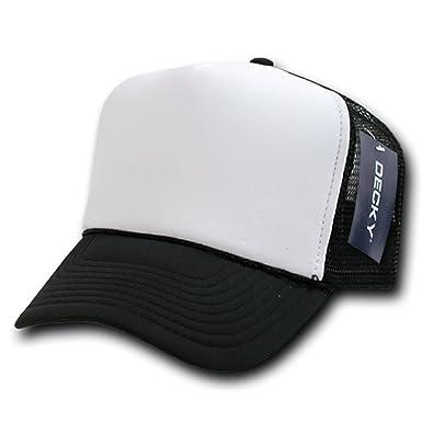 DECKY Two Tone Trucker Mesh Caps Plain Baseball Hat- Black at Amazon Men s  Clothing store  3f10cb1ac60