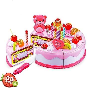 PUDDINGT® El Corte de Bricolaje Pastel de Cumpleaños Postre ...