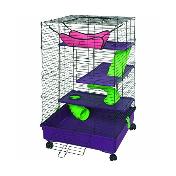 Kaytee My First Home Deluxe 2X2 Multi-Level with Casters 1