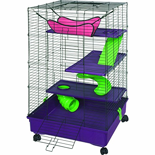Kaytee Multi-Level Cage W/Removable Casters, 24' x 24' x 41.5'