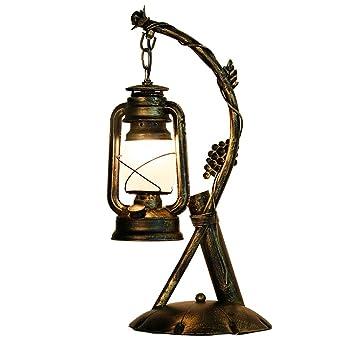 Lámpara de escritorio Estudio de oficina rural rural Dormitorio ...