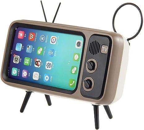 KOBWA - Altavoz Bluetooth para TV, portátil, con soporte para teléfono móvil, AUX FM Bluetooth opcional, calidad de sonido estéreo 3D, alcance inalámbrico de 32.8 pies, Bluetooth 4.2 – Regalo creativo: Amazon.es: Electrónica