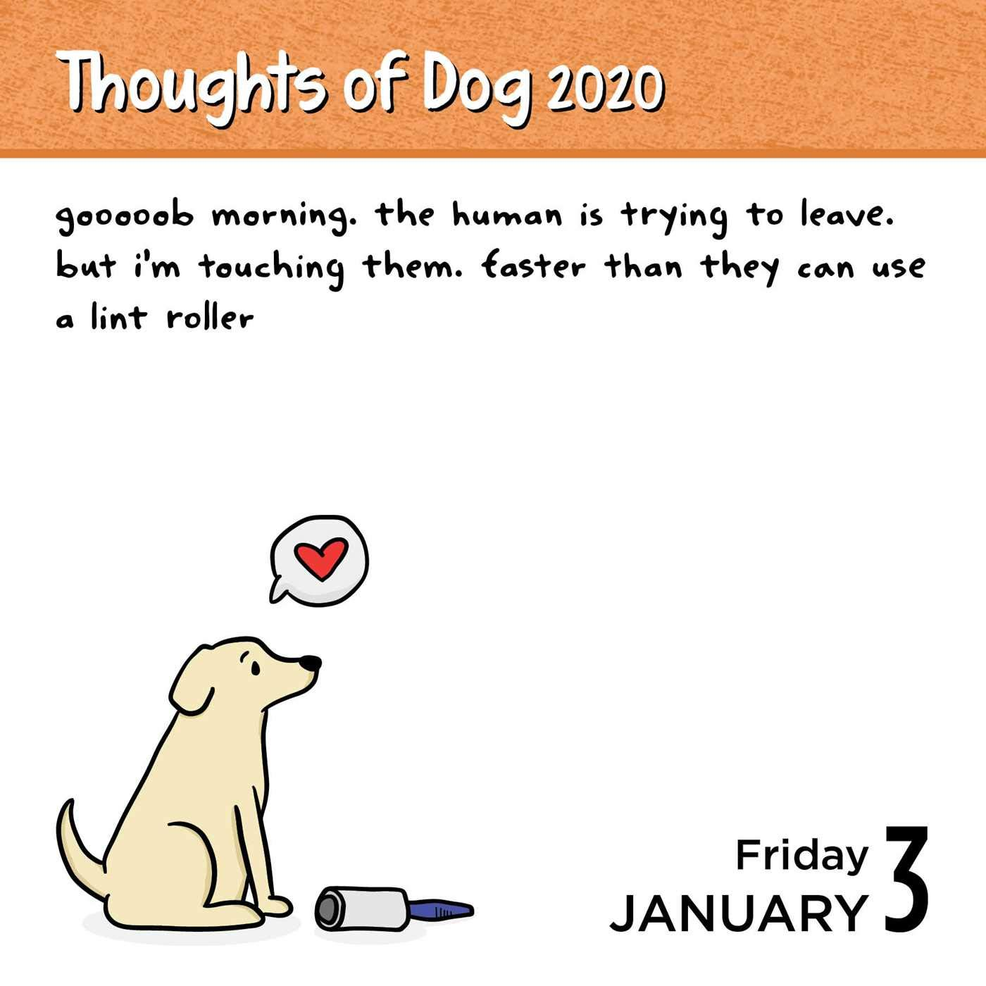 Thoughts of Dog 2020 Day to Day Calendar