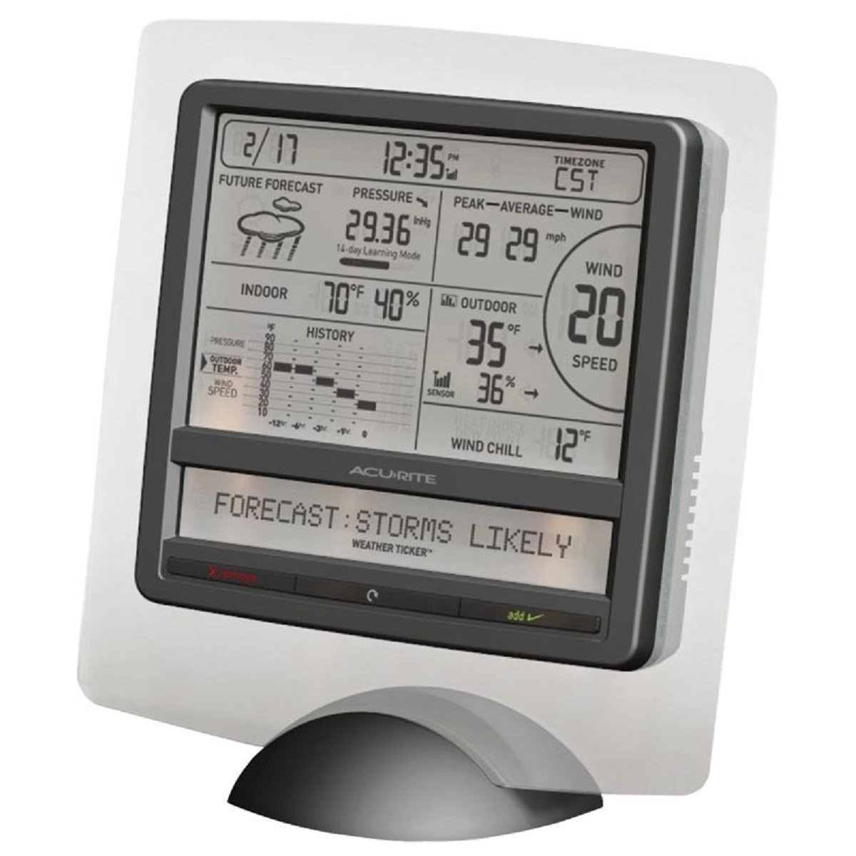 amazon com acurite 9 75 in h digital weather station with
