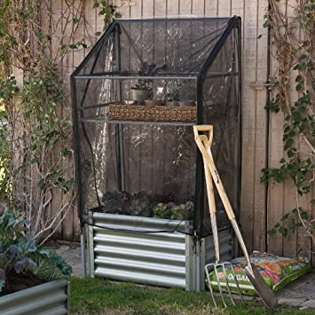 corrugated metal raised garden beds. Emery Corrugated Metal Raised Garden Bed W/Greenhouse Cover Constructed Of Steel W/a Beds