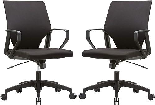 CLATINA Ergonomic Mid-Back Upholstered Swivel Task Chair