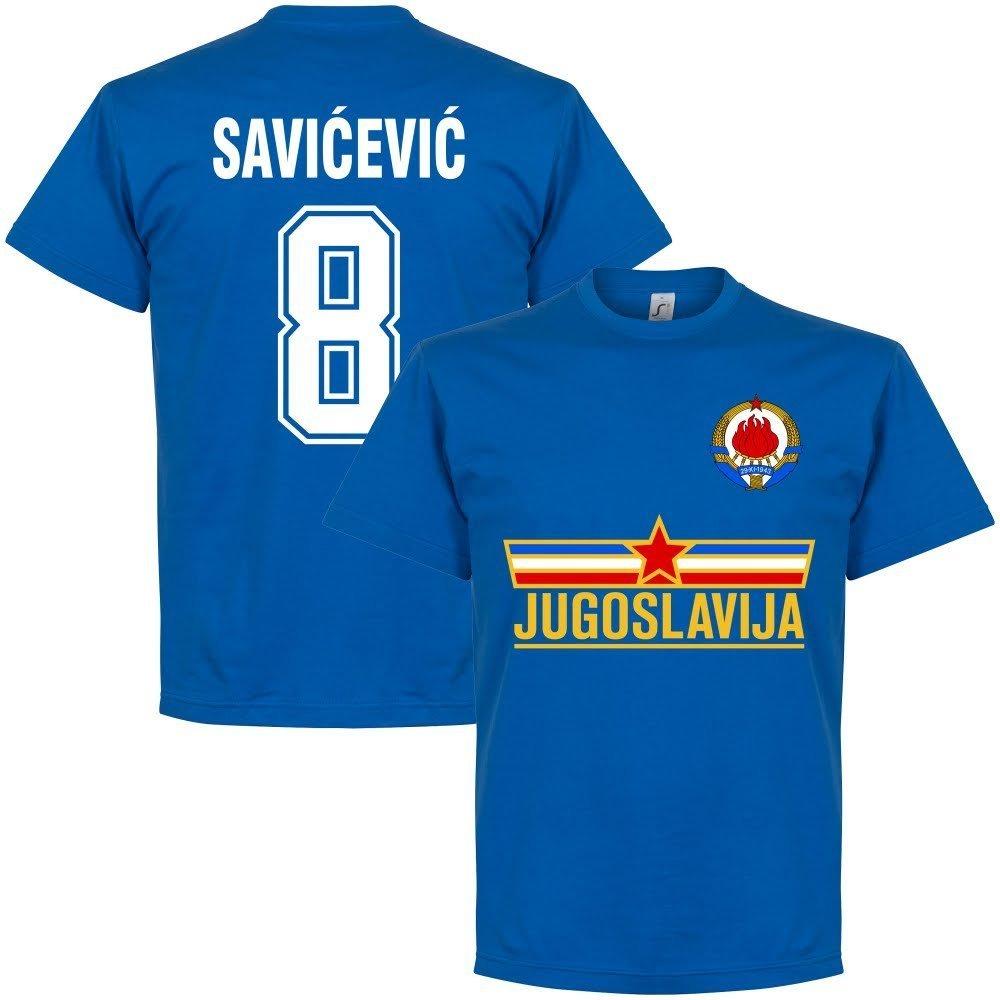 Jugoslavia Savicevic Team–Maglietta Blu Retake