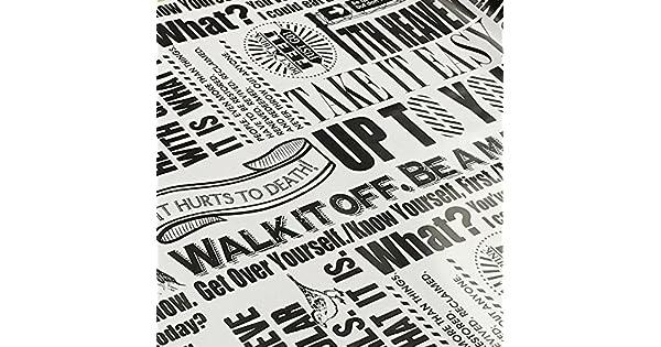 Amazon.com: simplelife4u clásico Negro y Blanco Periódico ...