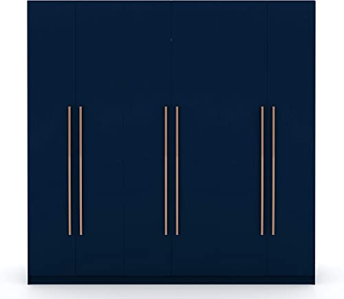 Manhattan Comfort Gramercy Contemporary Modern Freestanding Wardrobe Armoire Closet, 82.48 , Tatiana Midnight Blue