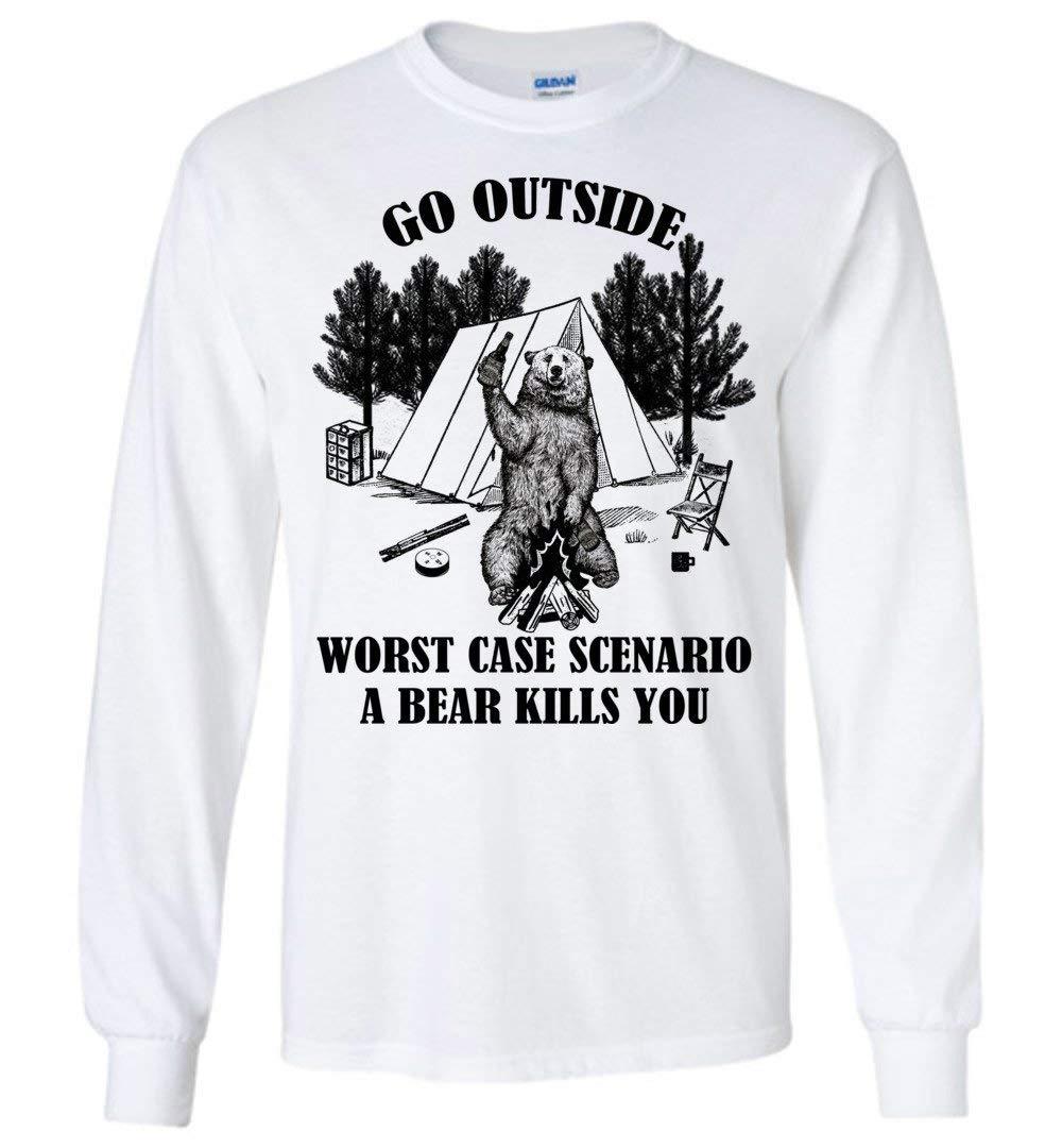 Go Outside Worst Case Scenario A Bear Kills You Funny 3470 Shirts