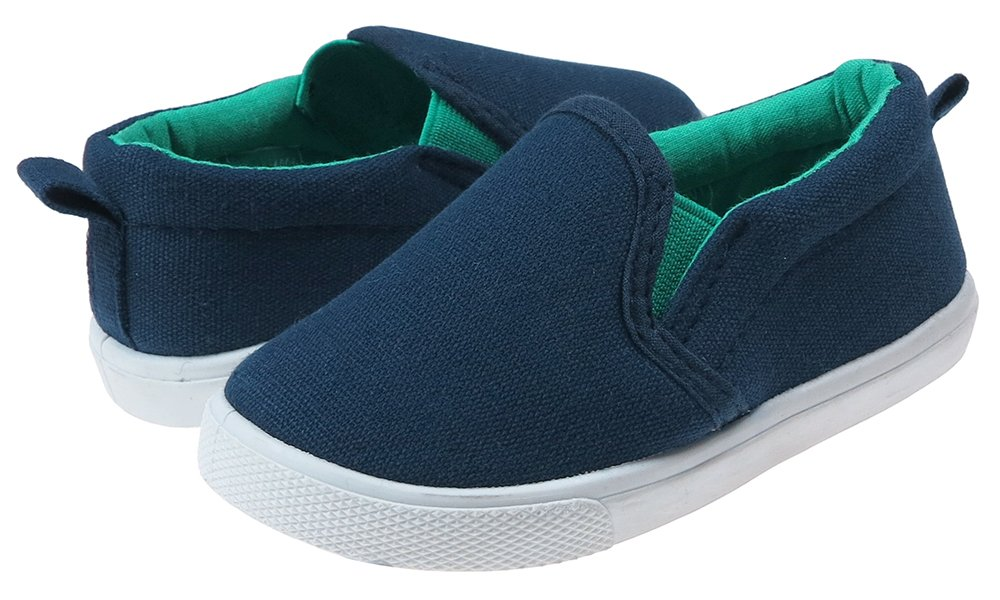 Capelli New York Toddler Boys Solid Canvas Slip-On Shoe Navy Combo 6