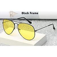 CFBD Lentes de Sol para Gafas De Aviador Gafas De Sol para Hombre Conductor del Coche Gafas De Visión Nocturna Gafas Antideslumbrantes para Damas Gafas para Conducir