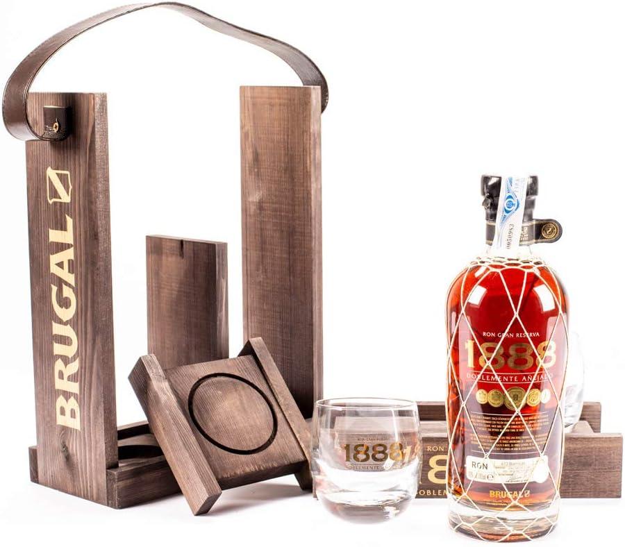 Brugal 1888 Gran Reserva Ron + Pack Regalo 2 Vasos, 40% - 700 ml