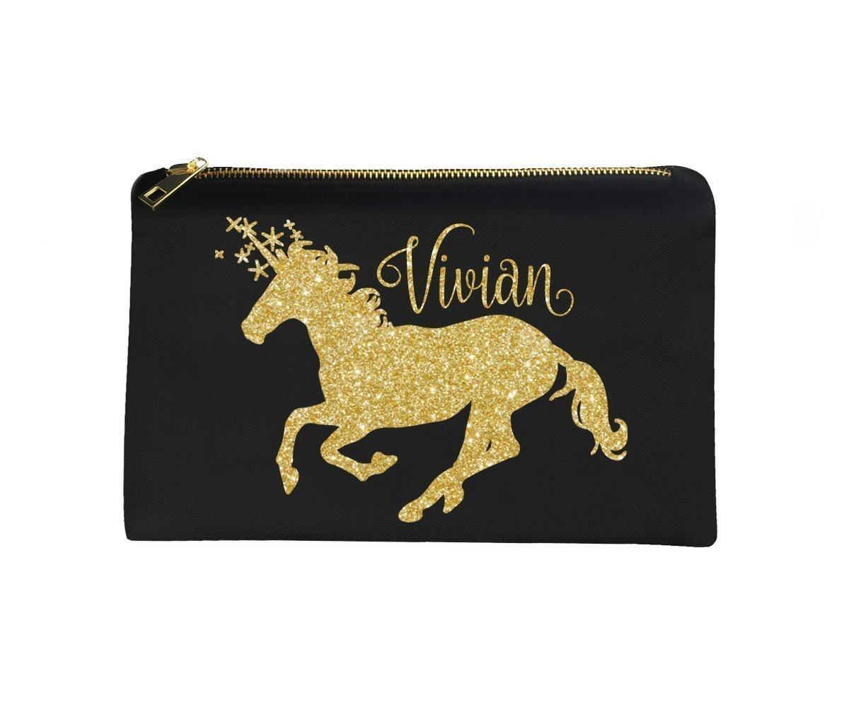 Personalized Unicorn Make-Up Bag