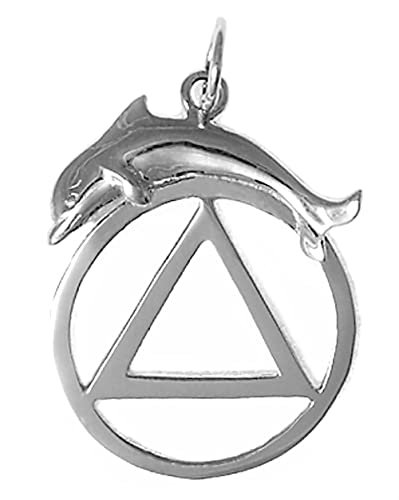 Amazon Alcoholics Anonymous Symbol Pendant 557 4 Sterling