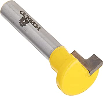 """Fresa T Slot serratura ø 1//4/"""" Shank Cutter Router Bit x 1//4/"""" Hex Bolt Keyhole"""