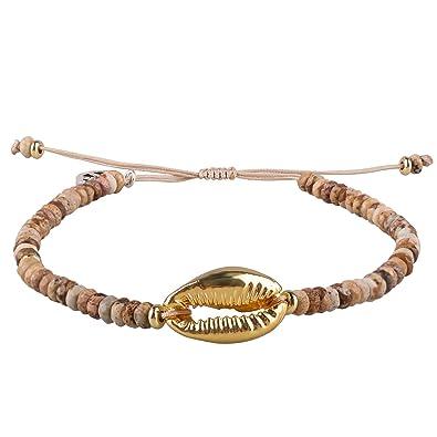 f1e1b2dae4af5 KELITCH Women Bracelets for Girls Men Nature Stone Picture Jasper ...