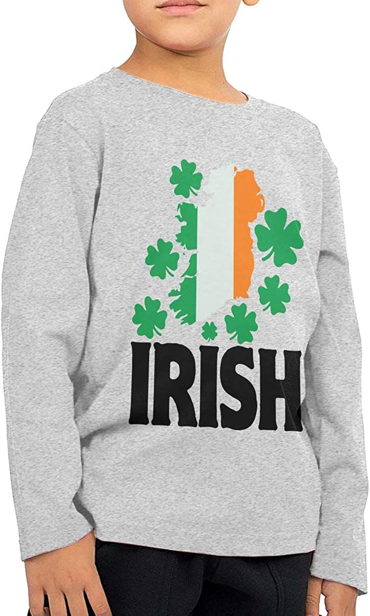 CERTONGCXTS Baby Boys Kids Irish St Patricks Day ComfortSoft Long Sleeve Shirt