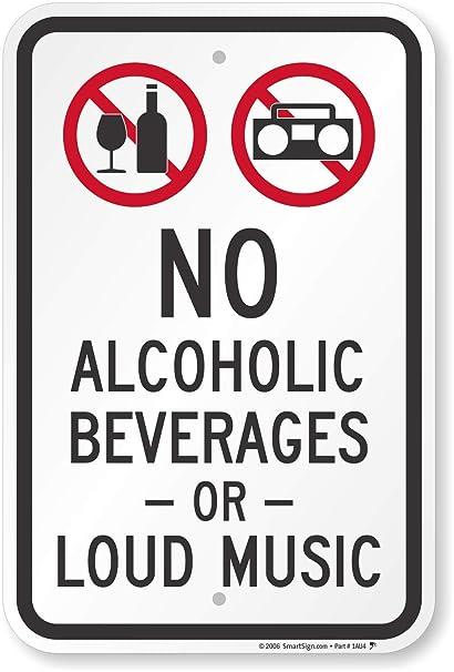 Amazon.com: No Bebidas Alcohólicas o Loud Música (con ...