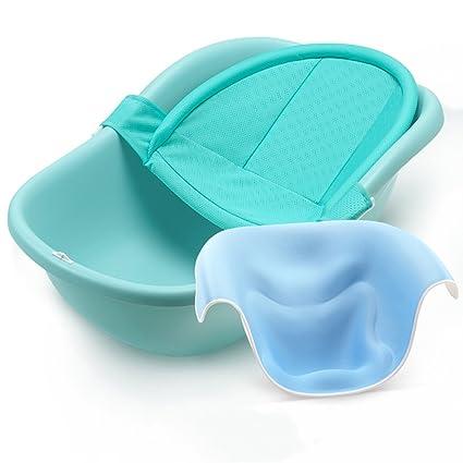 JIAO ES Bañera bebé recién Nacido Verde Claro bañera de bebé Puede ...