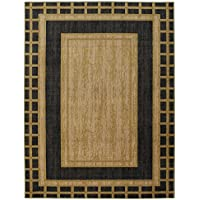 Ottomanson Authentic Collection Contemporary Bordered Design Area Rug, 33 X 50, Brown