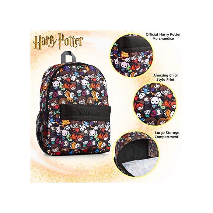 61xq2xGd OL MOCHILA OFICIAL DE HARRY POTTER --- Nuestra mochila escolar para niños y adolescentes presenta a los personajes más populares de la película en un divertido estampado. Podrás encontrar a Dumbledore, Ron Weasley, Hermione Granger, Minerva, Hippogriff, Harry Potter y muchos más. Esta mochila grande también viene con correas ajustables acolchadas para mayor comodidad, un bolsillo lateral de malla elástica, bolsillo frontal con cremallera y un compartimento principal. MOCHILA DE GRAN CAPACIDAD --- Esta mochila de Harry Potter tiene espacio para guardar material escolar o ropa de deporte. Cuenta con un compartimento principal con cremallera, un bolsillo lateral de malla para bebidas, y un pequeño bolso en la parte delantera que pueden usar a modo de estuche escolar. Viene con correas acolchadas ajustables para máxima comodidad, por lo que es perfecta para todas las alturas. HARRY POTTER MERCHANDISING --- Nuestra mochila de Harry Potter tiene licencia oficial, por lo que no se preocupe, cuando compra a través de nosotros está adquiriendo un producto de calidad. Nuestra principal prioridad es siempre la satisfacción de nuestros clientes.