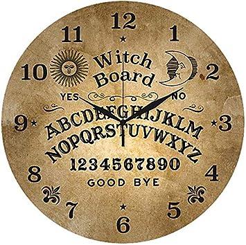 Glas-Wanduhr Reloj para la Pared Ouija Reloj de Pared Standard: Amazon.es: Hogar