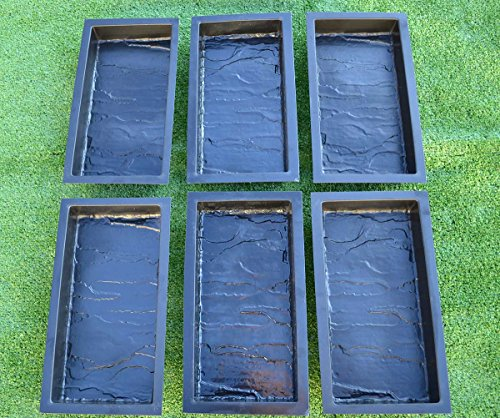 Sold set 6 PIECE DESIGN CONCRETE MOLDS for PAVING BRICK SLAB patio garden path MOULD#S23 (Patios Designs For Brick)