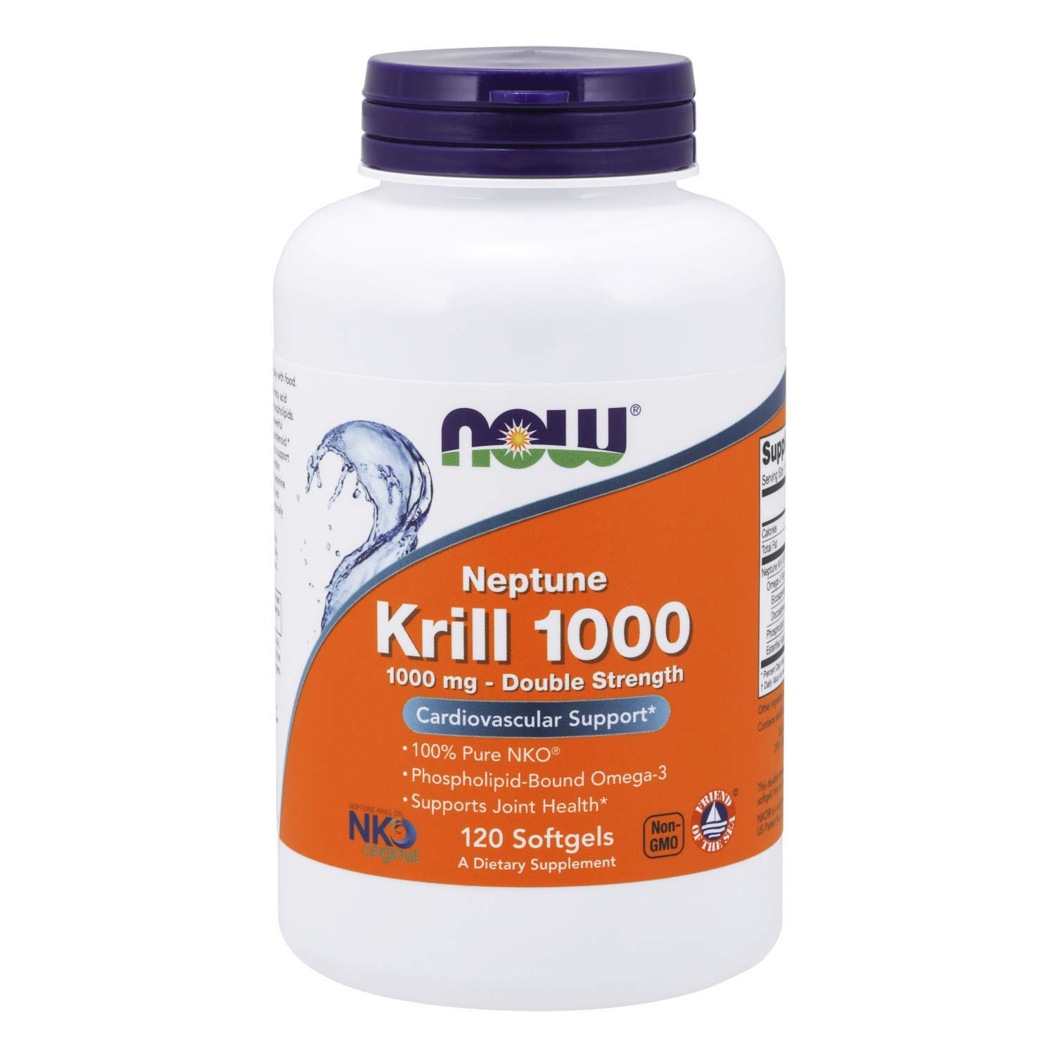 Now Supplements, Neptune Krill, Double Strength 1000 mg, Phospholipid-Bound Omega-3, 120 Softgels by NOW Foods