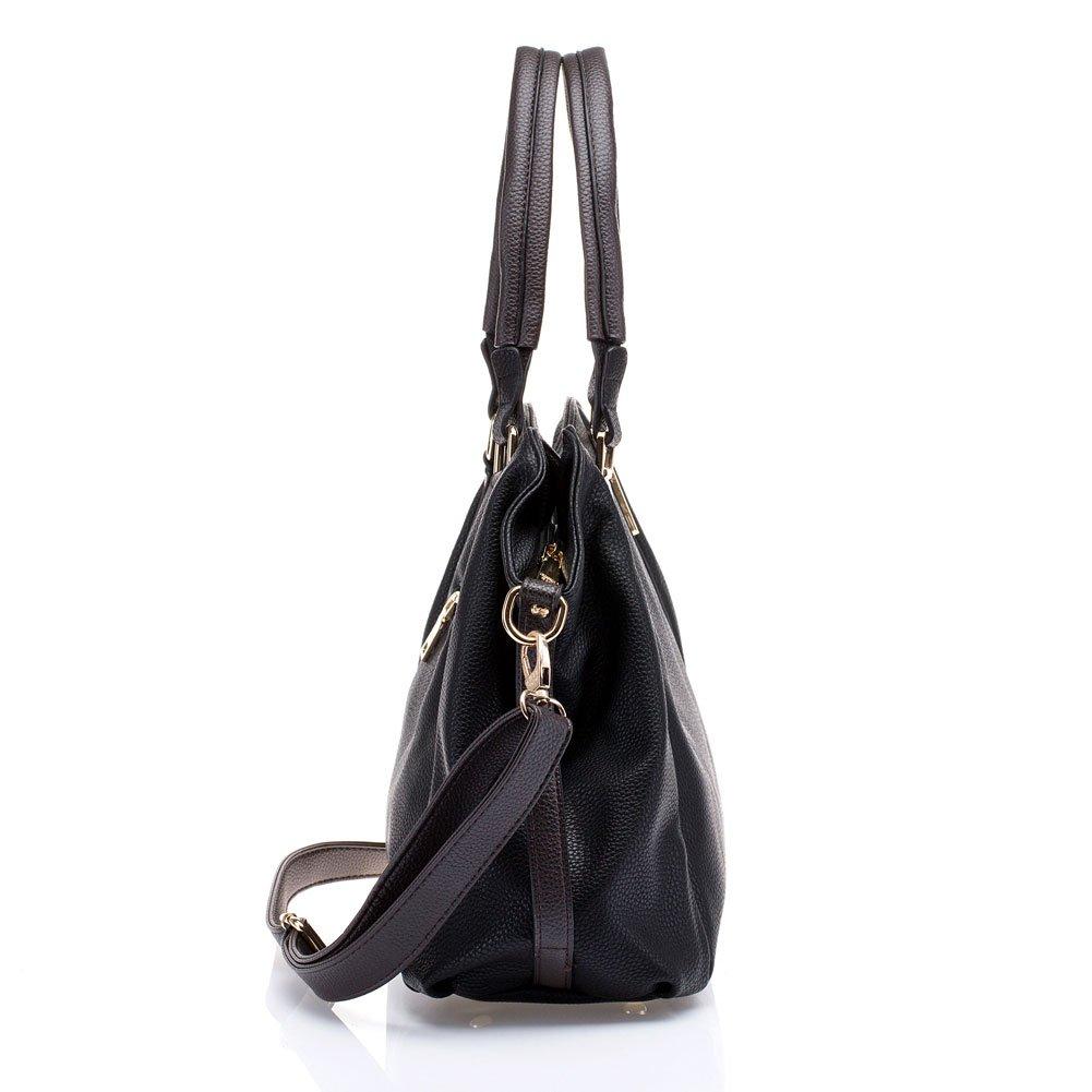 17f691ea80 UTAKE Women Handbags Leather Handbags Shoulder Bag Lichi Grain PU Leather  Tote Bag UT04 Black  Amazon.co.uk  Shoes   Bags