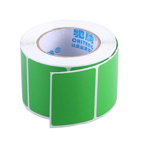 TOYANDONA Etiquetas verdes por rollo en blanco etiquetas de ...