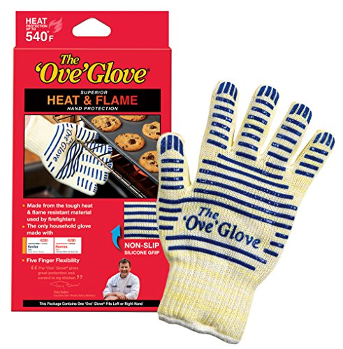 'Ove' Glove, Heat Resistant, Hot Surface Handler Oven Mitt/Grilling Glove, (Pack of 2) Perfect For Kitchen/Grilling, 540 Degree Resistance, As Seen On TV Household Gift by Ove Glove