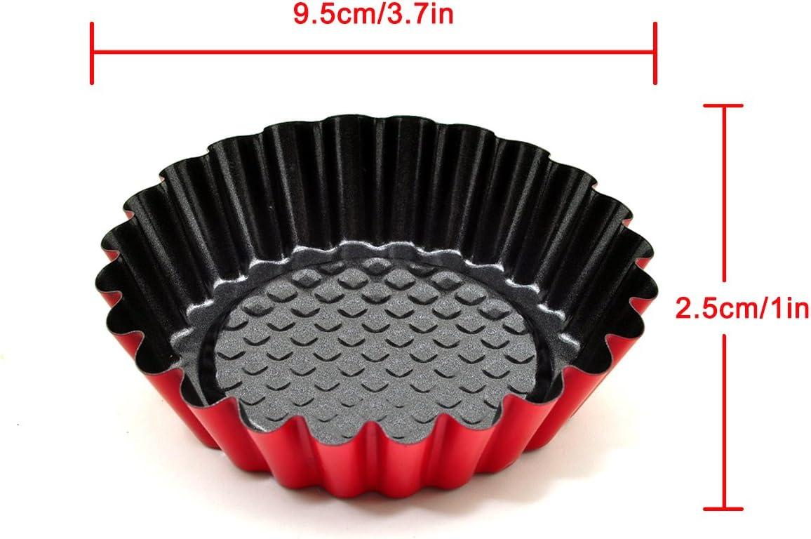 jiele 32 Pcs Acier Inoxydable Moule /à Muffin,Moules /à Tartelette,Moules de Cuisson Moules Antiadh/ésif et R/éutilisable pour Cupcake G/âteau,Collations,Desserts,Cr/ème Glac/ée ou de Chocolat Congel/és