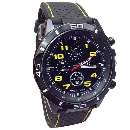 relojes hombre vovotrade Hombres Relojes Militar Deportes Reloj de pulsera de reloj de cuarzo de silicona