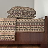 Roostery African 4pc Sheet Set Africa Nouveau by Jabiroo King Sheet Set made with