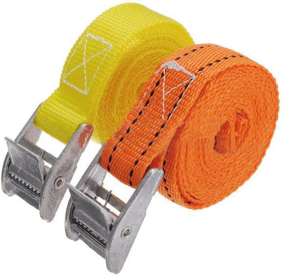 flujo Maintenance Tools Belt 2.5m Heavy Duty Metal Cam Buckle Cargo Luggage Bag Nylon Tie Down Strap Belt