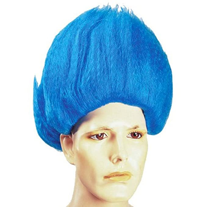 Amazon.com  MyPartyShirt Blue Troll Wig  Clothing 50f900d0c9