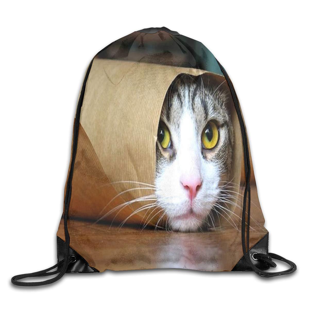 Amazon.com: Mochila con cordón para gatito con diseño de ...