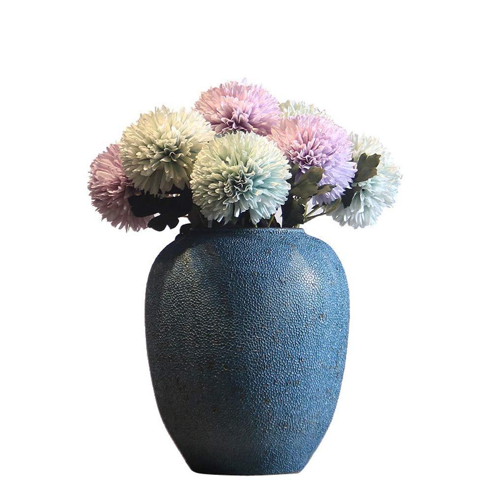 セラミック花瓶用花緑植物結婚式の植木鉢装飾ホームオフィスデスク花瓶花バスケットフロア花瓶 B07RDB8JFY