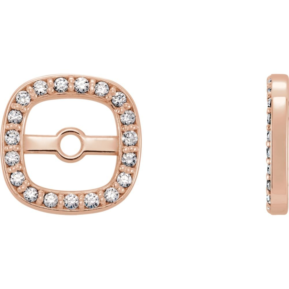 STU001- 14K Rose .08 CTW Diamond Earring Jackets by STU001-