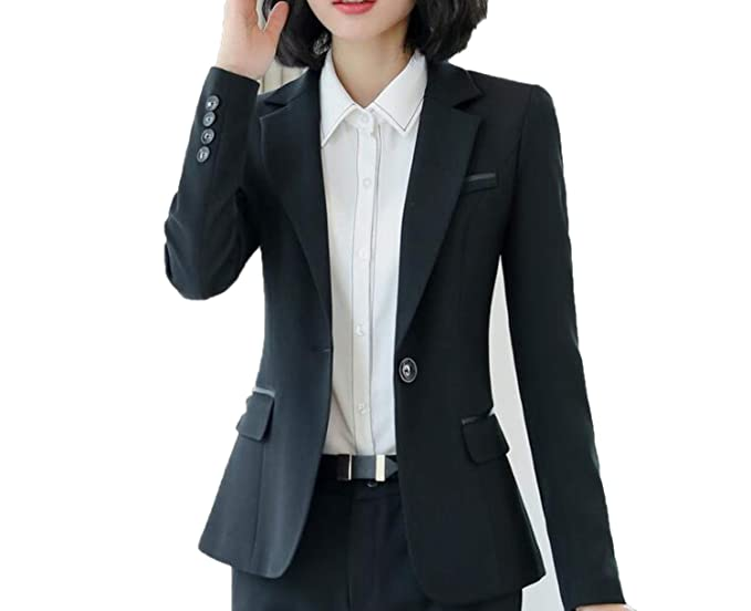 Amazon.com: Business Blazer - Chaqueta de manga larga para ...
