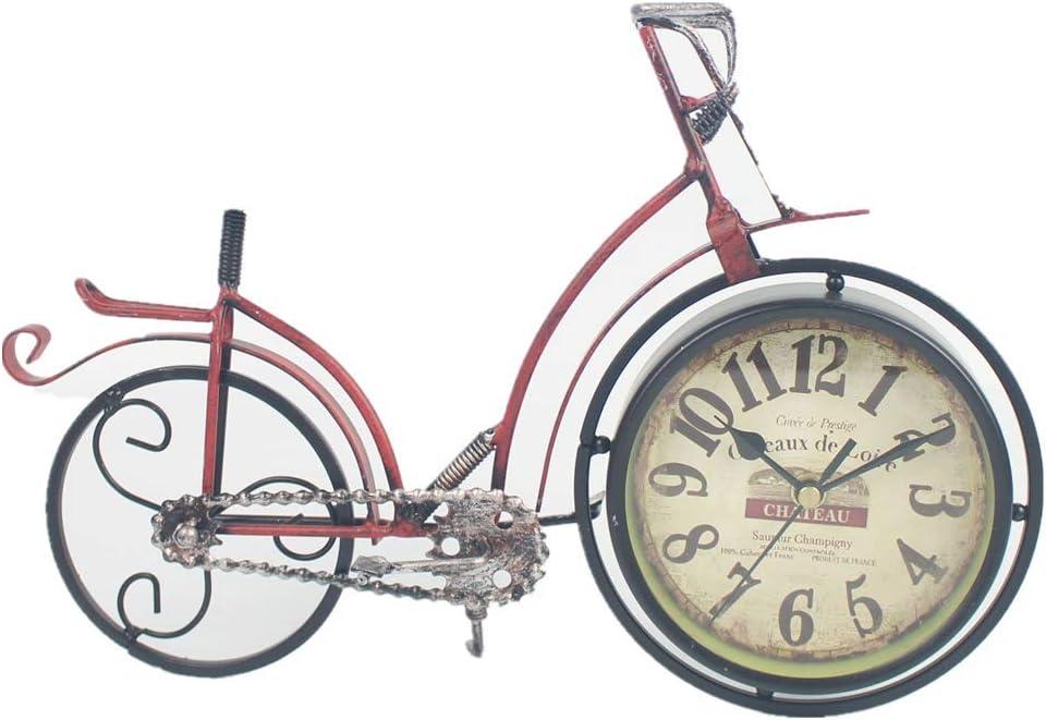 GYCZC Reloj De Pared Reloj Retro De Hierro Artesanal Reloj De Asiento De Bicicleta Casa Nueva Casa Reloj De Pared: Amazon.es: Hogar
