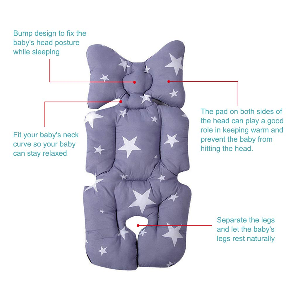 BELUPAI Baby Stroller Cushion Pad Baby Chair Seat Head Body Support Pillow Car Seat Cushion Liner Mat