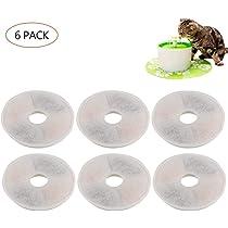 FOONEE Filtros compatibles con la Fuente de Flores de Catit – 6 Paquetes de filtros de Repuesto para Fuente de Agua para Mascotas de Alto Rendimiento ...