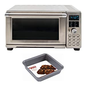 NuWave 20801 Bravo XL Air Fryer/Toaster Oven w/digital temperature probe + Square Pan Accessory Bundle