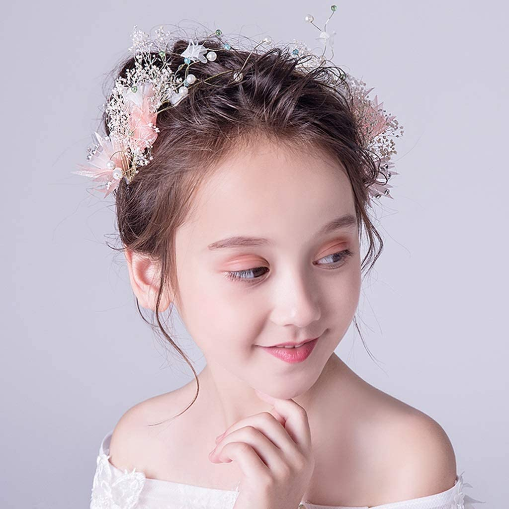 Wreath Flower Childrens Hair Accessories Princess Tiara Girl Headband Birthday Headband Accessories
