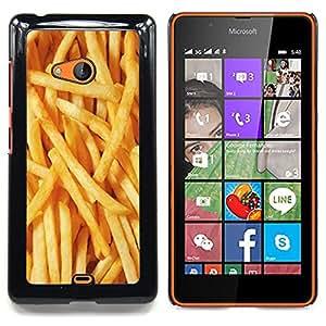 Stuss Case / Funda Carcasa protectora - Fries Oro comida rápida de Sun Textura - Nokia Lumia 540