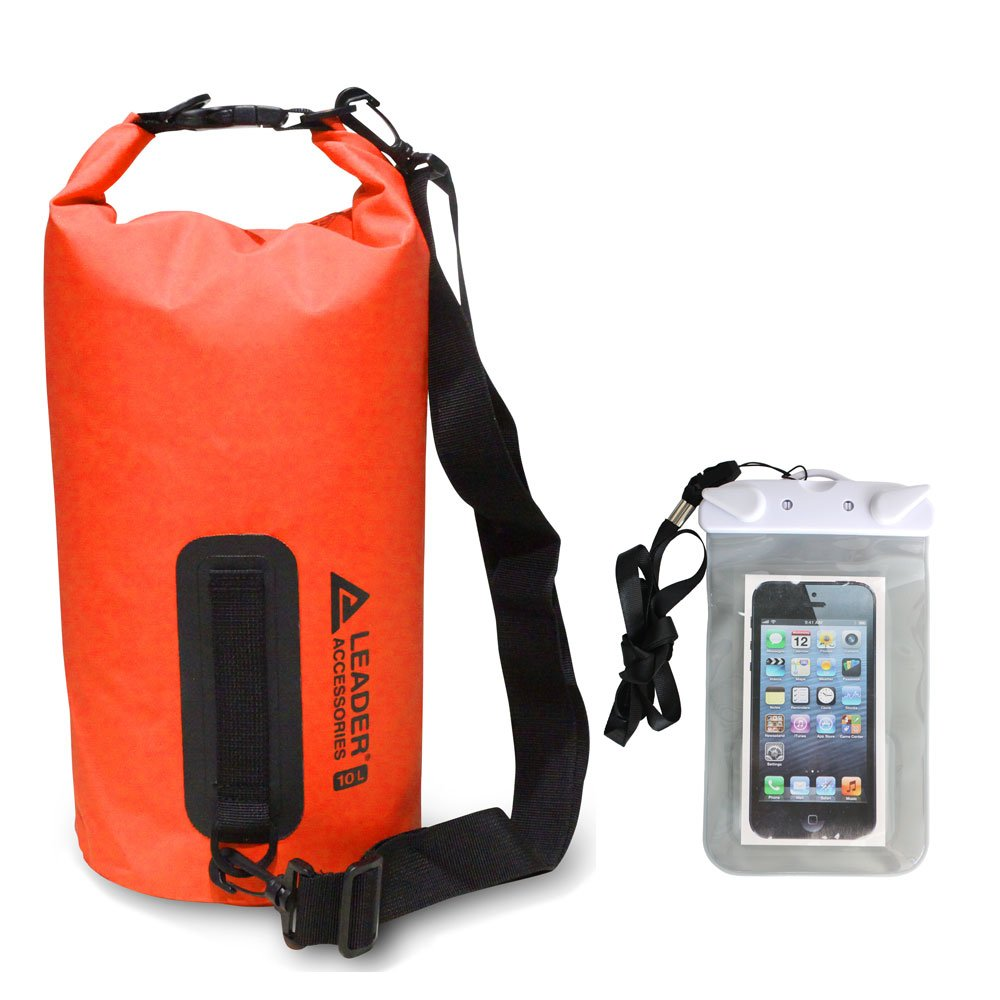 Leader Accessories New Heavy Duty Vinyl Waterproof Dry Bag for Boating  Kayaking Fishing Rafting Swimming Floating and Camping with Free Waterproof  Phone ... e3937e4e17c43